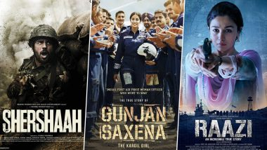 Independence Day 2021: From Sidharth Malhotra's Shershaah to Alia Bhatt's Raazi; 5 Best Bollywood Patriotic Movies in Recent Times and Where To Watch Them Online!