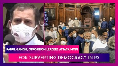 Rahul Gandhi, Sanjay Raut, And Other Opposition Leaders Attack Modi Government For Using 'Brute Force' To Pass Bills On Last Day Of Monsoon Session In Rajya Sabha