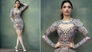 Tamannaah Bhatia Exudes Glamour In Embroidered Bodycon Dress; Shares Stunning Pics From Latest Photoshoot