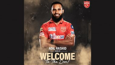 PBKS Squad for IPL 2021: English Spinner Adil Rashid Joins Punjab Kings for UAE Leg