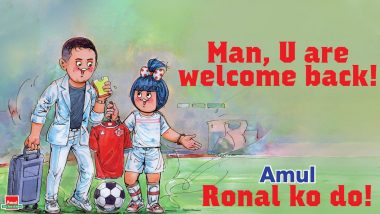 Cristiano Ronaldo Joins Manchester United: Amul Celebrates Portuguese Star's Return to Old Trafford With Interesting Topical