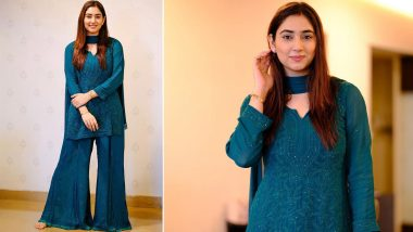 Newlywed Disha Parmar Looks Gorgeous In a Stunning Teal Blue Ethnic Outfit, Says 'So Many Reasons To Just Be Happy' (View Pics)
