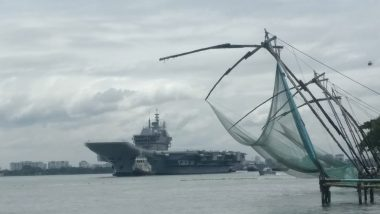 INS Vikrant Sails Out For Maiden Trial Into the Arabian Sea