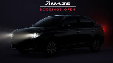 2021 Honda Amaze Bookings Now Open; India Launch Scheduled for August 18, 2021