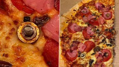 Nuts And Bolts As Pizza Toppings! UK Woman Shocked to Find New Kind of Toppings After Ordering Pizza from Domino's (See Pics)