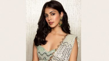 Rhea Chakraborty Exudes Glamour In a Dazzling Fusion Saree, Shares Stunning Pics From Latest Photoshoot
