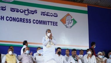 India News | BJP Government is Not Bothered About Third Wave of COVID-19, Busy in Its Cabinet Formation, Says Congress Leader Siddaramaiah