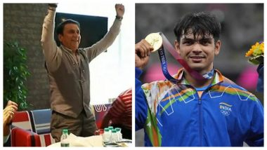 Sunil Gavaskar Celebrates Neeraj Chopra's Gold Medal Win, Sings 'Mere Desh Ki Dharti' After Indian Athlete's Historic Performance at Tokyo Olympics 2020 (Watch Video)