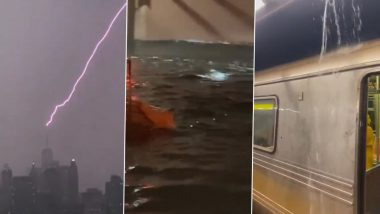 Lightning Strikes New York's One World Trade Centre As Storm Henri Hits Northeast United States (Watch Video)