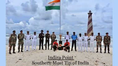 Swarnim Vijay Varsh Celebrations: Victory Flame Taken to Indira Point, National Flag Hoisted To Mark 50th Year of India's Victory in 1971 War Against Pakistan