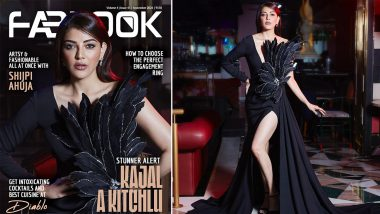 Kajal Aggarwal Stuns in Sheer Black Gown for Fablook's Cover Page! Twitterati in Complete Awe of Her Sizzling Looks