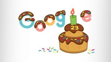 Google's 23rd Birthday: Search Engine Sets Up Special Cake-Themed Doodle on Home Page