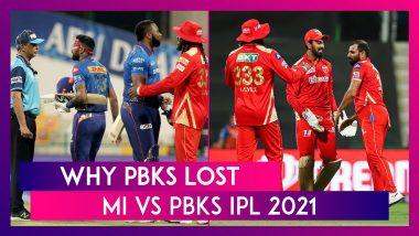 Mumbai Indians vs Punjab Kings IPL 2021: 3 Reasons Why PBKS Lost