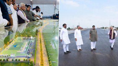 Nitin Gadkari, Manohar Lal Khattar Reviews Progress of Delhi-Mumbai Expressway
