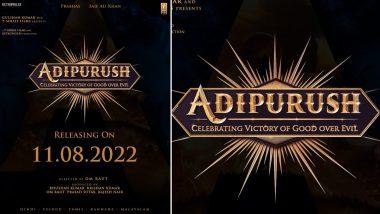 Adipurush: Prabhas and Saif Ali Khan Starrer To Hit The Theatres on August 11 Next Year
