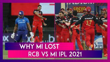Royal Challengers Bangalore vs Mumbai Indians IPL 2021: 3 Reasons Why MI Lost