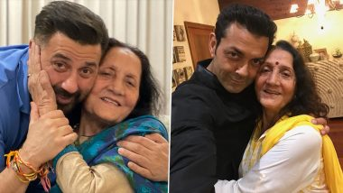 Sunny Deol and Bobby Deol Share Adorable Pictures With Their Mother, Extend Heartfelt Greetings on Her Birthday! (View Post)