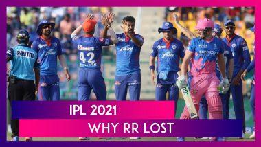 Delhi Capitals vs Rajasthan Royals IPL 2021: 3 Reasons Why RR Lost