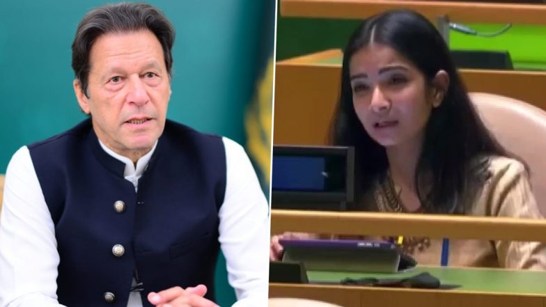 Sneha Dubey, India's First Secretary at the UN, Slams Imran Khan at UNGA;  Says Pakistan Nurtures Terrorists in Their Backyard (Watch Video)   📰  LatestLY