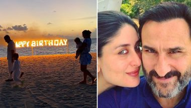Kareena Kapoor Khan Shares a Glimpse of Her Beautiful Beach Birthday Celebration With a Burning Fire Sign!