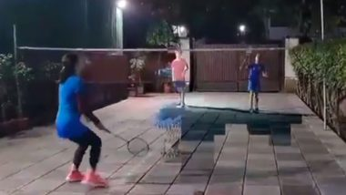 Watch Mary Kom Show Her Badminton Skills While Playing With Her Sons (Watch Video)
