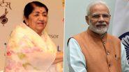 Lata Mangeshkar 92nd Birthday: PM Narendra Modi Wishes Legendary Singer on Her Birthday