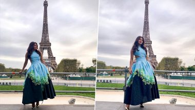 Priyanka Chopra Jonas Shares a Glimpse of Her 'Evening in Paris' As She Poses in a Beautiful Dress Near the Eiffel Tower!