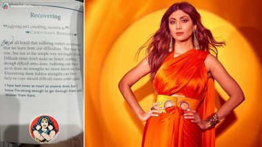 Shilpa Shetty Kundra Shares a Thoughtful Message on 'Recovering From Suffering' Amid Husband Raj Kundra's Pornography Case
