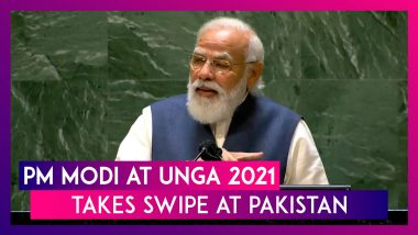 PM Modi At UNGA 2021 Takes Swipe At Pakistan, Says, 'Some Using Terrorism As Political Tool'; Key Highlights From The Speech