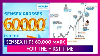 Sensex Hits 60,000 Mark For The First Time, Just Eight Months After Touching 50,000 Mark In January