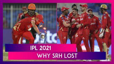 Punjab vs Hyderabad, IPL 2021: 3 Reasons Why Hyderabad Lost