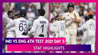 IND vs ENG 4th Test 2021 Day 5 Stat Highlights: Visitors Win Oval Test By 157 Runs