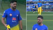 MS Dhoni Takes the Field, Does Some Drills Ahead of CSK vs MI, IPL 2021 Clash (Watch Video)