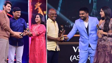 SIIMA 2021: Mahesh Babu Gets Best Actor in a Leading Role Award for Maharshi, Velraj Bags Best Cinematographer Honour for Asuran, Check Out the Complete List of Winners