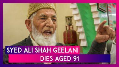 Syed Ali Shah Geelani, Kashmir's Former Hurriyat Leader, Dies Aged 91