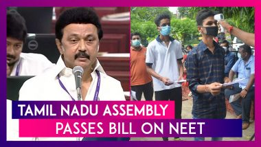 Tamil Nadu Assembly Passes Bill On NEET, Class 12 Marks Basis For Admission To UG Medical Courses