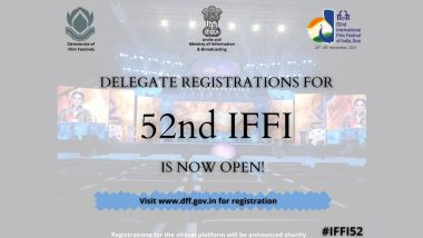 IFFI 2021: Delegate Registration for 52nd International Film Festival of India Now Open