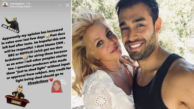 Britney Spears' Fiance Sam Asghari Slams Conservatorship Documentaries, Says 'Past Docs Left a Bad After Taste'