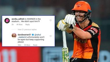 Is David Warner Leaving Sunrisers Hyderabad After IPL 2021? Netizens React to Team's Treatment of 2016 Title-Winning Captain (Check Posts)