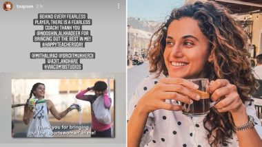 Teacher's Day 2021: Taapsee Pannu Is All Praises for Her 'Shabaash Mithu' Coach Nooshin Al Khadeer on the Occasion