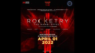 Rocketry: The Nambi Effect – R Madhavan's Film on S. Nambi Narayan To Hit the Theatres on April 1, 2022