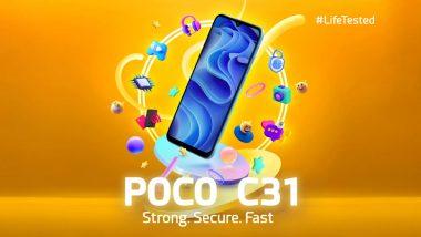 Poco C31 India Launch Scheduled for September 30, 2021; Teased on Flipkart