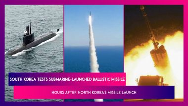 South Korea Tests Submarine-Launched Ballistic Missile Hours After North Korea's Ballistic Missile Launch