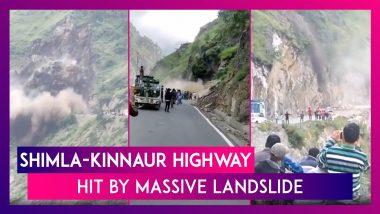 Shimla-Kinnaur Highway Hit By Massive Landslide; No Casualties Reported