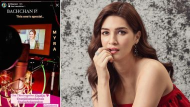 Bachchan Pandey: Kriti Sanon Shares Glimpse of Her Character As 'Myra' From the Upcoming Action-Comedy With Akshay Kumar