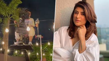 Sharmaji Ki Beti: Tahira Kashyap Khurrana 'Levitating' on Sets of Her Bollywood Directorial Debut (Watch Video)