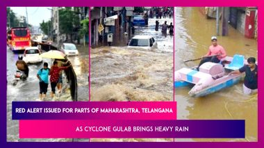 Red Alert Issued For Parts Of Maharashtra, Telangana As Cyclone Gulab Brings Heavy Rain