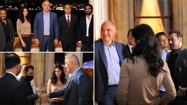Salman Khan, Katrina Kaif Meet Turkish Minister for Lunch After Their Upcoming Spy-Thriller Tiger 3 Shoot (View Pics)