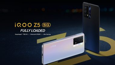 iQOO Z5 5G With 5,000mAh Battery & Snapdragon 778G Processor Launched in India at Rs 23,990