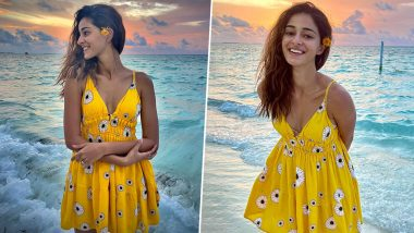 Ananya Panday Radiates Charm While Posing During the Sunset! Have a Look at Her Glamorous Holiday Picture